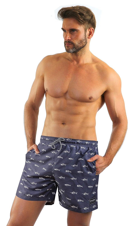 Sesto Senso/® Ba/ñador de Natacion para Hombre Pantalones Cortos de Ba/ño Ba/ñadores con Forro