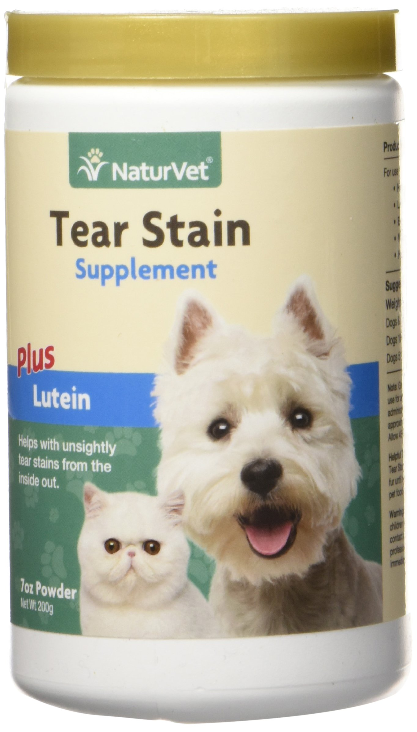 NATURVET 978233 Tear Stain Supplement 200G for Pets