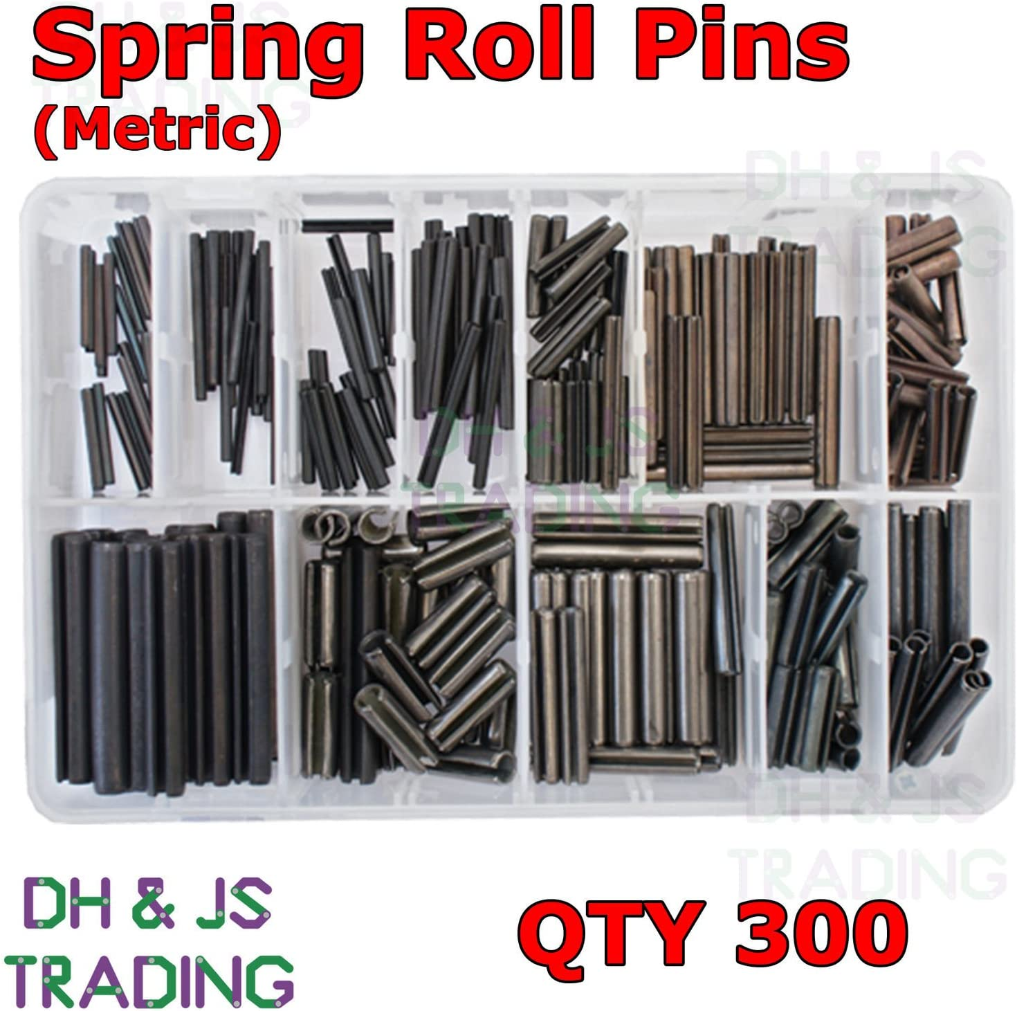 Metric M2 M3 M4 M5 M6 M8 Slotted Tension Assorted Box of Spring Roll Pins 300