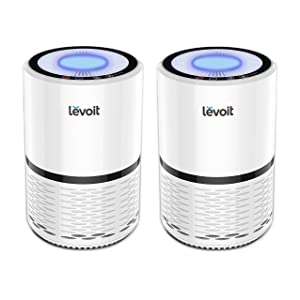 LEVOIT LV-H132Air Purifier with True HEPA Filter, Odor Allergies Eliminator for Smokers, Smoke, Dust, Mold, Home and Pets,Air Cleaner with Optional Night Light, US-120V, 2 Pack, 2-Year Warranty