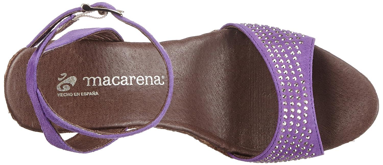 Macarena ROSA64-AM ROSA64-AM Macarena Damen Espadrilles Violett (Violet) 56ecb1