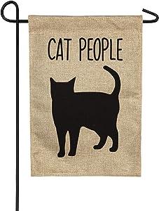 Cat People Garden Burlap Flag - 13 x 1 x 18 Inches