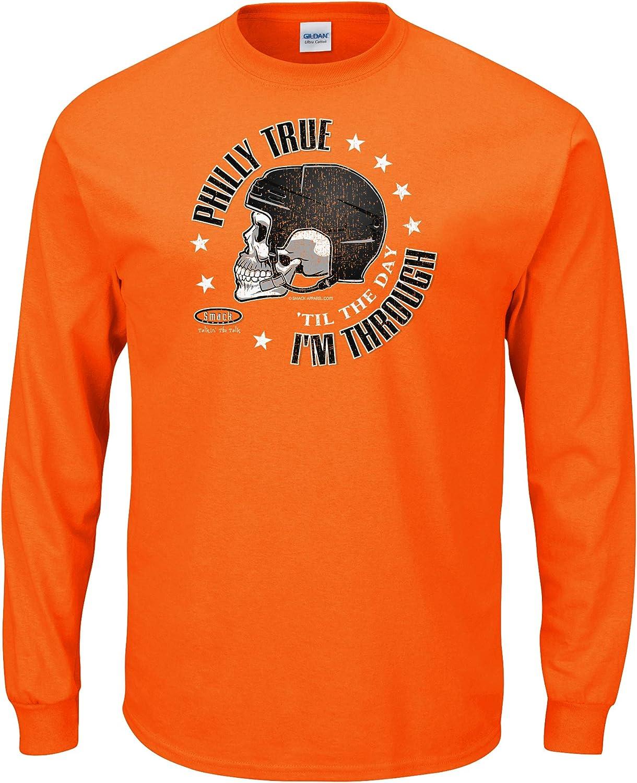 Smack Apparel Philadelphia Hockey Fans. Philly True 'Til The Day I'm Through. Orange T-Shirt (Sm-5X)