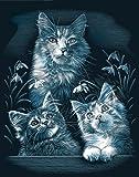 Reeves Kittens Scraperfoil Artwork, Silver