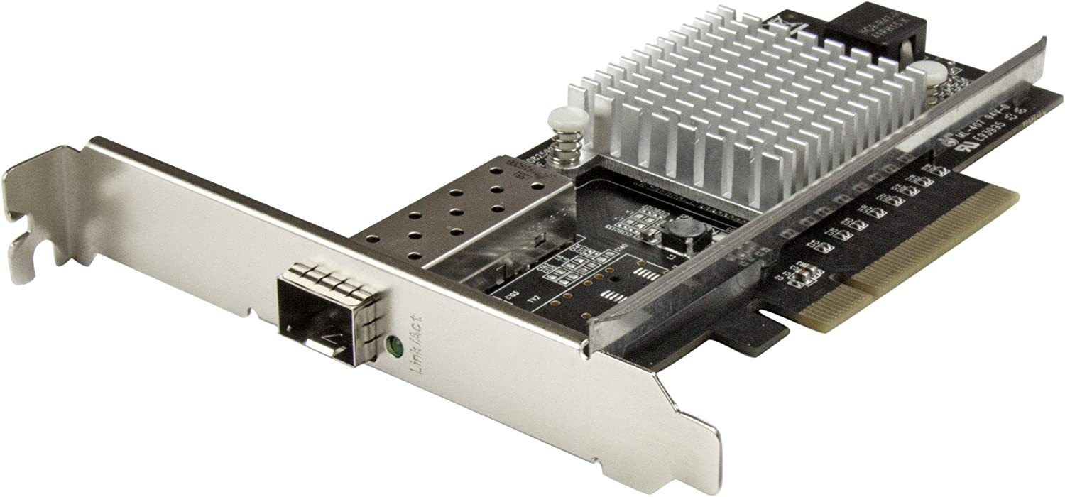 StarTech.com 10G Network Card - MM/SM - 1x Single 10G SPF+ Slot - Intel 82599 Chip - Gigabit Ethernet Card - Intel NIC Card (PEX10000SFPI)