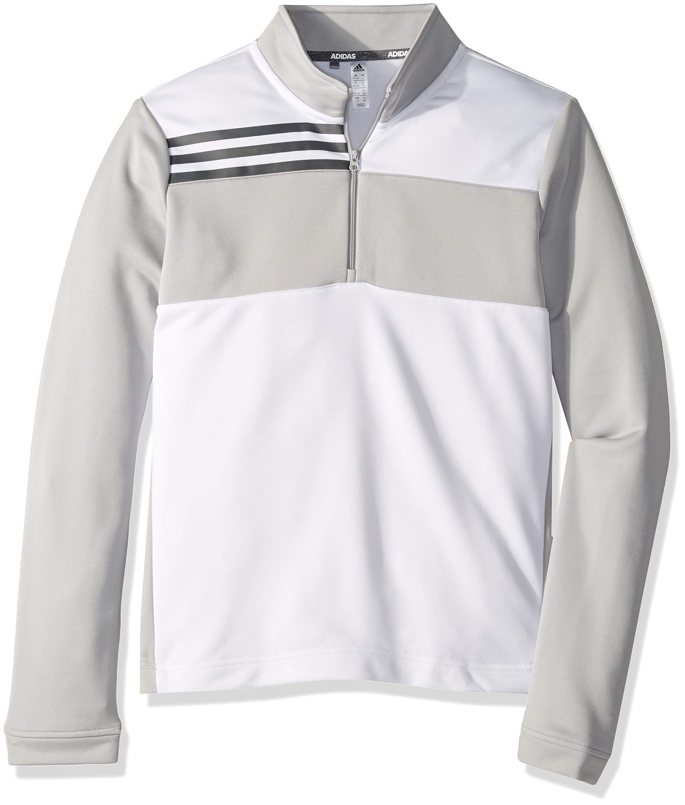 adidas Golf Color Blocked Half Zip Layer, White, X-Small by adidas