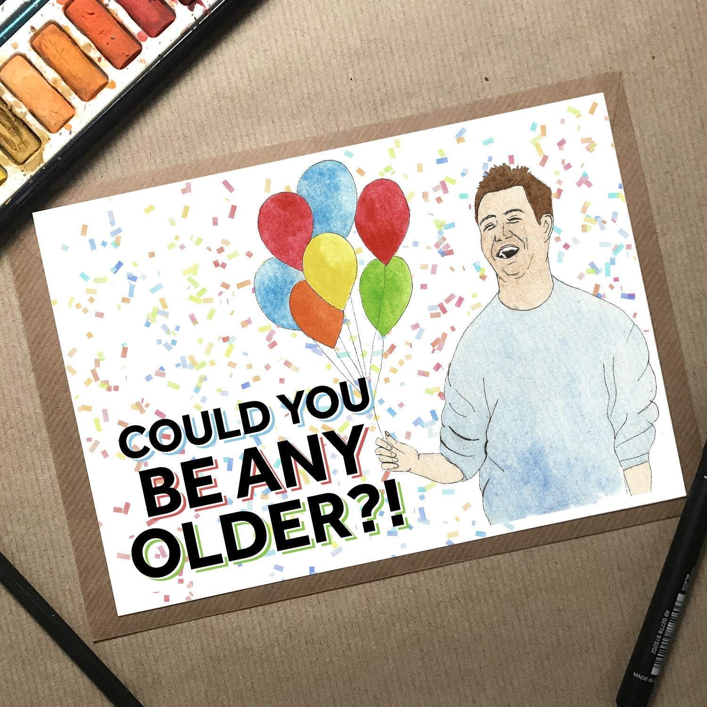 87 Friends Birthday Card For Women, Friends TV Show Card, Chandler Birthday  Card, Friends Merchandise, Wife Birthday Card