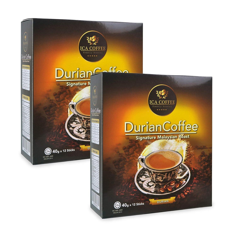 ICA Durian Coffee Signature Malaysian Roast (12 sachets/box), 2 boxes (Exp: Nov 2020)