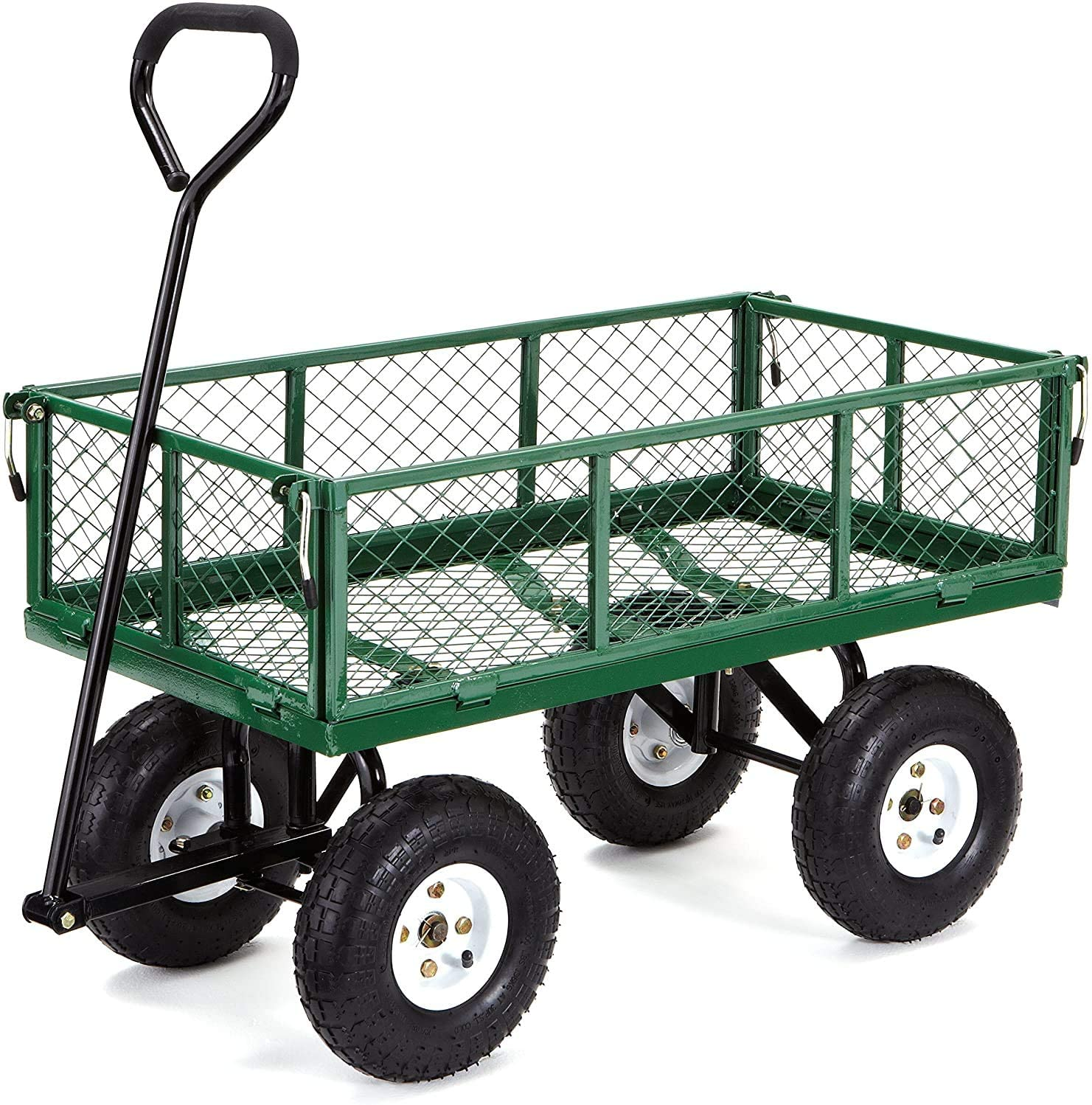 Gorilla Carts GOR400-COM Steel Garden Cart with Removable Sides, 400-lbs. Capacity
