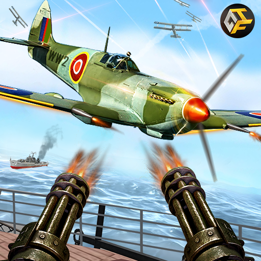 WW2 Naval Gunner Battle Air Strike: Free War Games ()