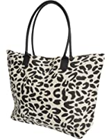 Womens Summer Animal Print Beach-Pool-Swim-Tote-Shopping Large Bag