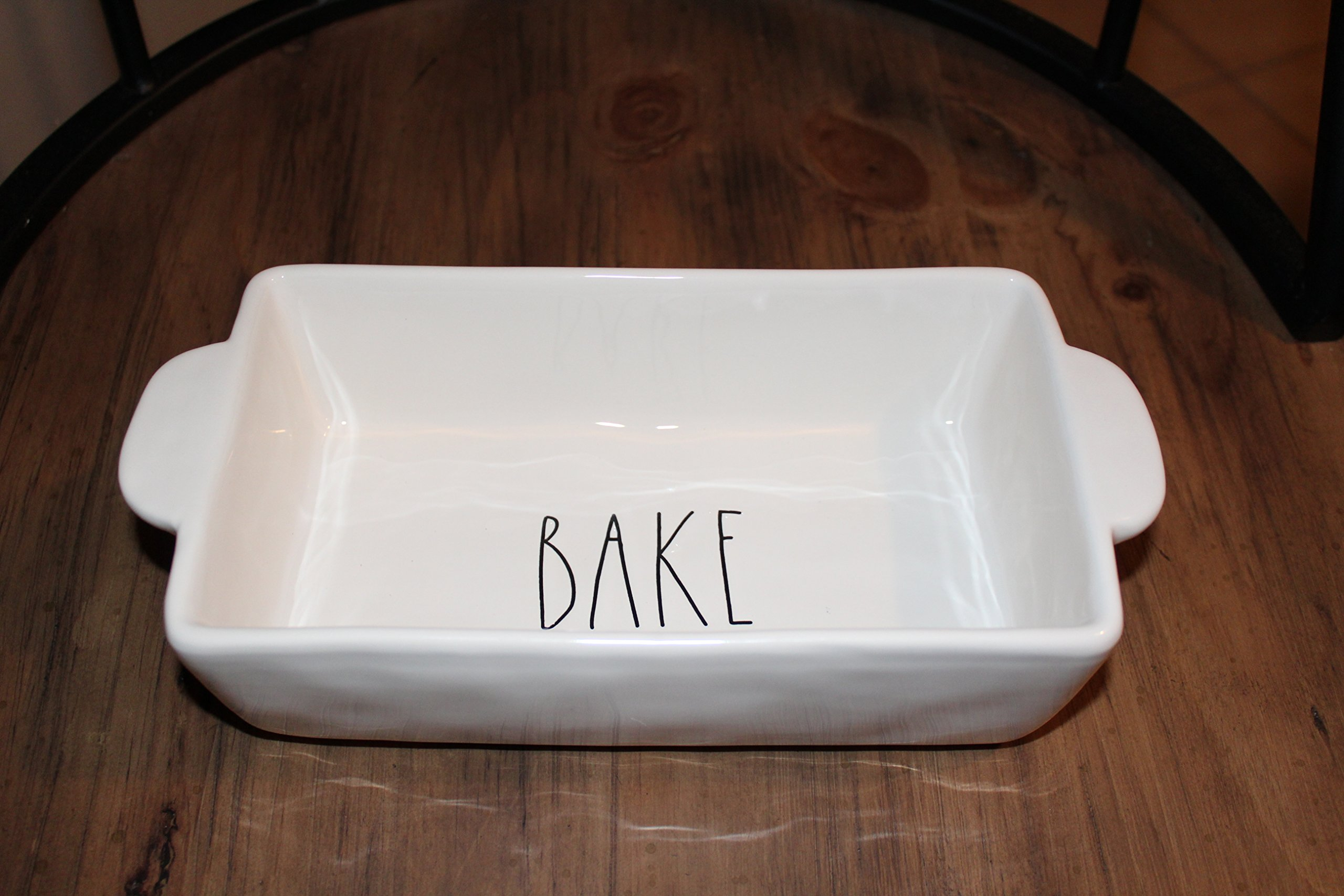 Rae Dunn by Magenta BAKE Large letters Loaf Pan 9 in.