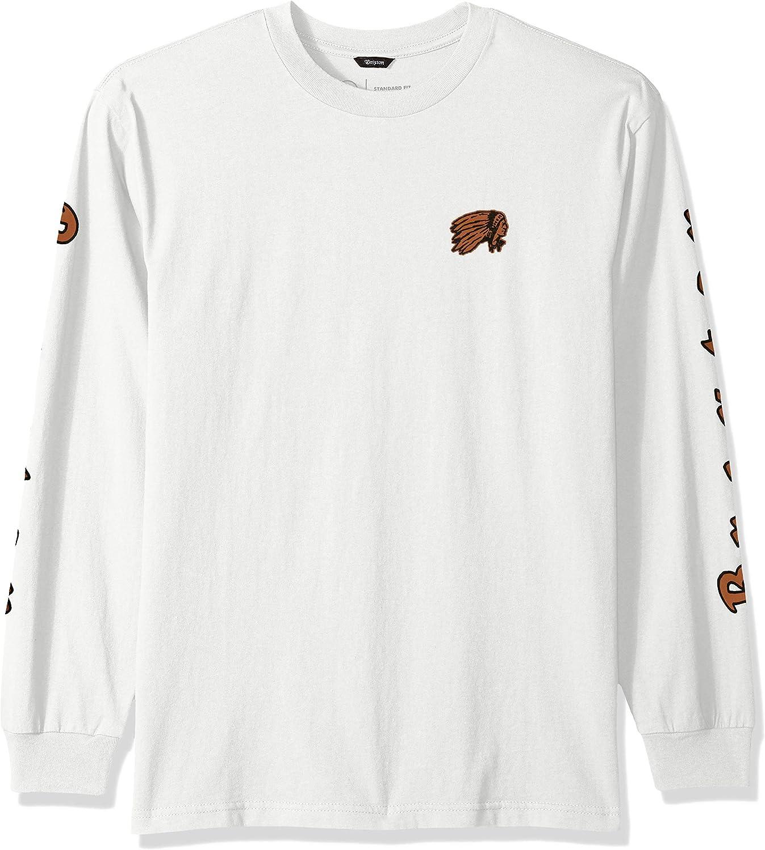 BRIXTON Hombre 06772 Primo L/S Stt Manga Larga Camiseta: Amazon.es: Ropa y accesorios