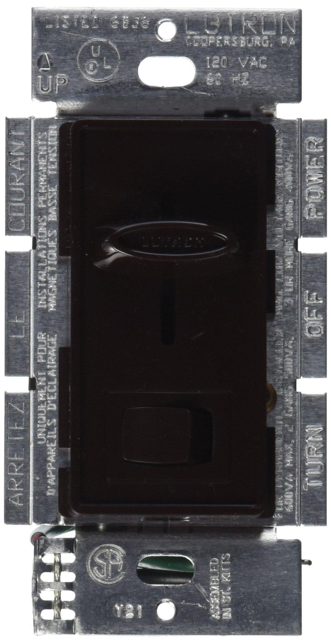 Lutron Lutron SLV-600P-BR Skylark 450-Watt Single Pole Electronic Low-Voltage Dimmer, Brown by Lutron