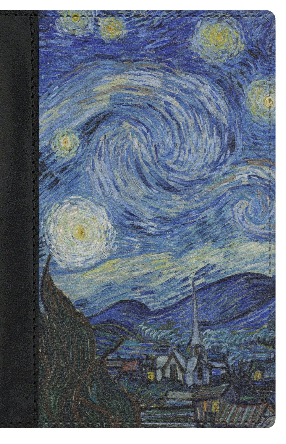 The Starry Night (Van Gogh 1889) Genuine Leather Passport Cover