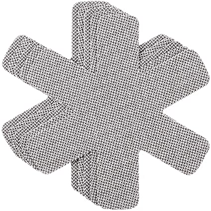 Protector de Olla y Sartén Chefarone - Juego de 5 - 38cm de Largo – Ideal para evitar Rayaduras en Sartenes Antiadherentes de Acero Inoxidable o Gres