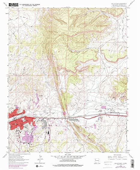 Amazon.com : Gallup East NM topo map, 1:24000 Scale, 7.5 X 7.5 ... on