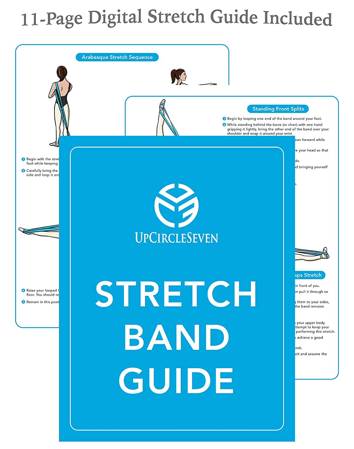 amazon com upcircleseven ballet stretch band baby blue amazon com upcircleseven ballet stretch band baby blue sports outdoors