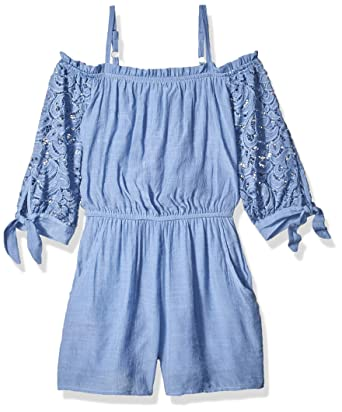 Amy Byer Girls Big Shoulder Romper