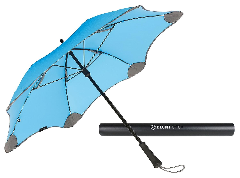 【正規輸入品】 ブラント ライトプラス 全3色 長傘 手開き 日傘/晴雨兼用 ブルー 6本骨 58cm UVカット グラスファイバー骨 耐風傘 A1451-74 B008GPZI9Y ブルー ブルー