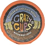 Crazy Cups Coffee, Peppermint, Chocolate Mocha, Single Serve cups for the K Cup Keurig, 22 Count