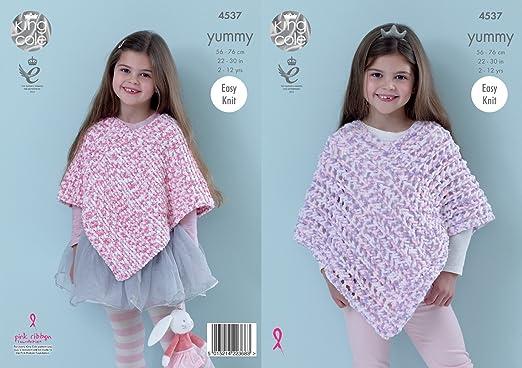 Amazon King Cole Girls Knitting Pattern Easy Knit Garter Stitch