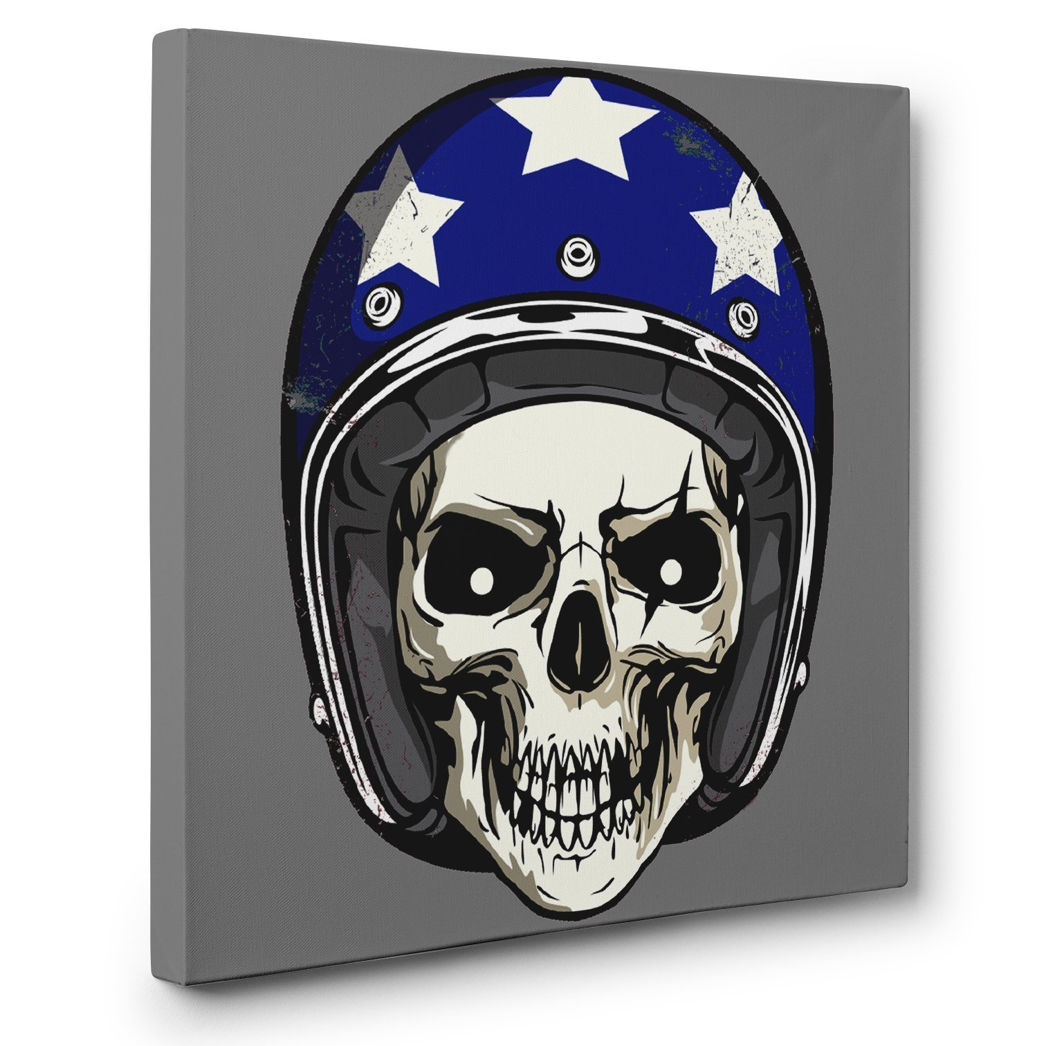 Skull American Flag Helmet SKULL CANVAS Wall Art Halloween Home Décor