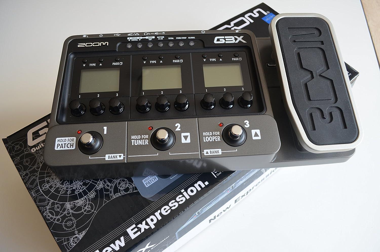 Zoom G3X - Pedal multiefectos para guitarra, color negro: Amazon ...