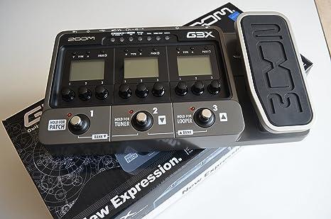 Zoom G3X - Pedal multiefectos para guitarra, color negro