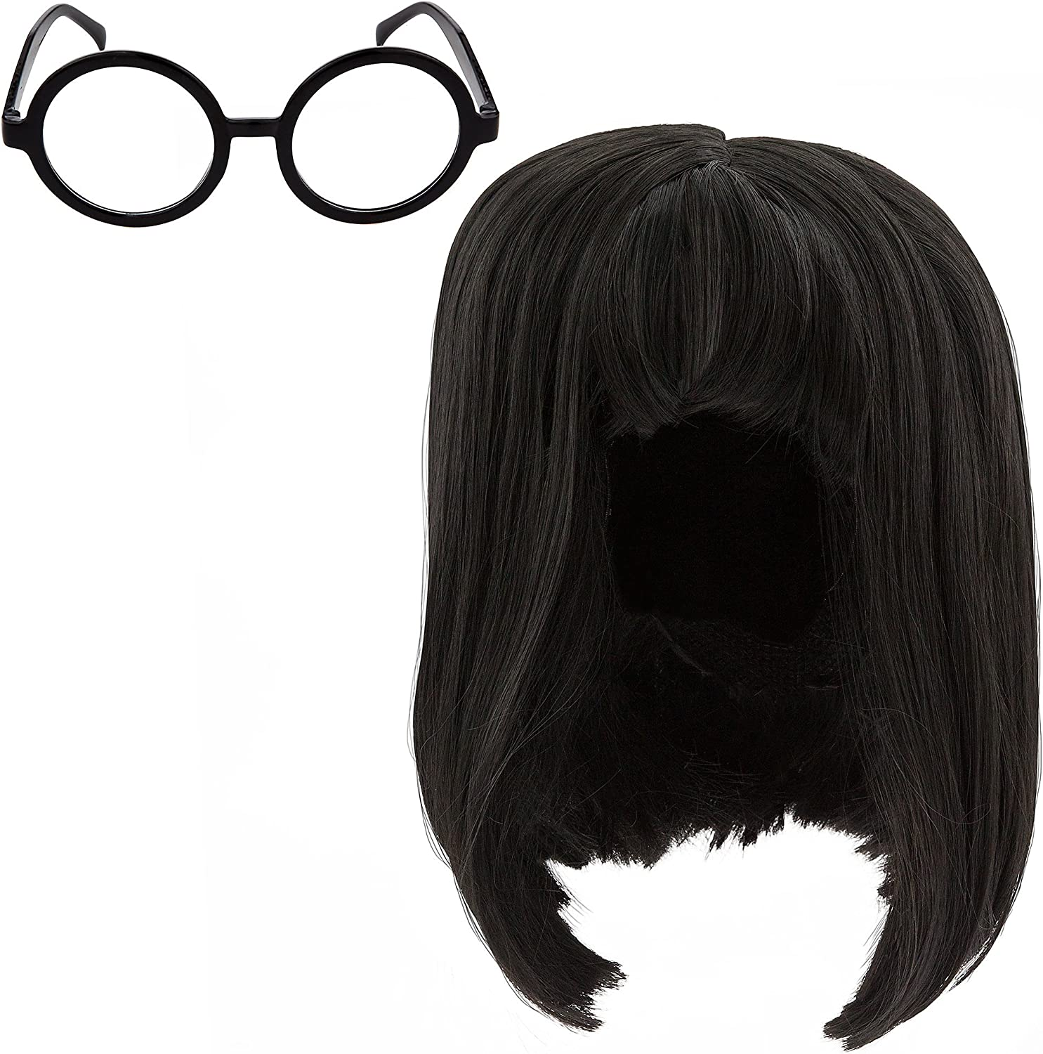 Amazon Com Disney Edna Mode Wig And Eyeglasses Set For Adults Incredibles 2 Multi Clothing