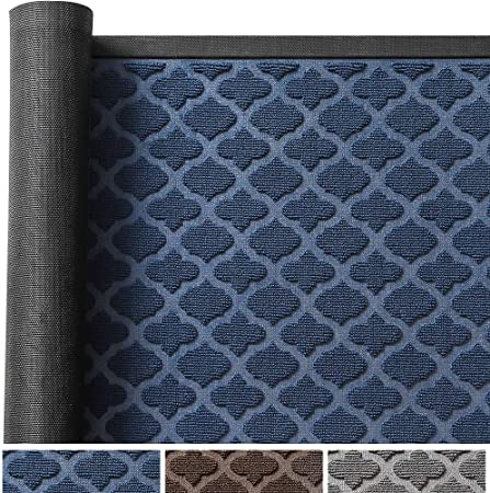 Color&Geometry Felpudo de Entrada, 90 x 150 cm Alfombra Exterior para Puerta, Casa Tapete Antideslizante, Fácil de Limpiar, Resistencia a la Suciedad para Exterior, Jardín, Pasillo, Cocina (Azul): Amazon.es: Hogar