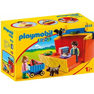 Playmobil Take Along Market Stall Building Set: Toys & Games