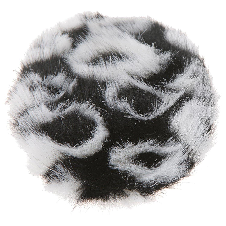 Earbags Fashion Ohrenwä rmer Ohrenschü tzer Mü tze Stirnband Warme Ohren Original Strick Fell Leder, Farbe Fell schwarz/weiß , Grö ß e M