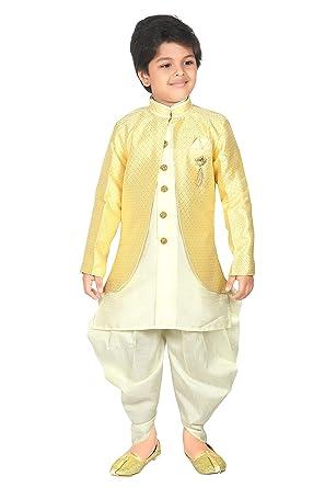 b6d663dae Amazon.com: ahhaaaa Kids Ethnic wear Waistcoat, Indo Western Sherwani and  Dhoti Pant for Boys_425: Clothing