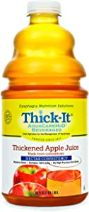 Thick-It AquaCareH2O Thickened Beverage 64 oz. Bottle Apple Flavor Ready to Use Nectar Consistency, B454-A5044 - Case of 4