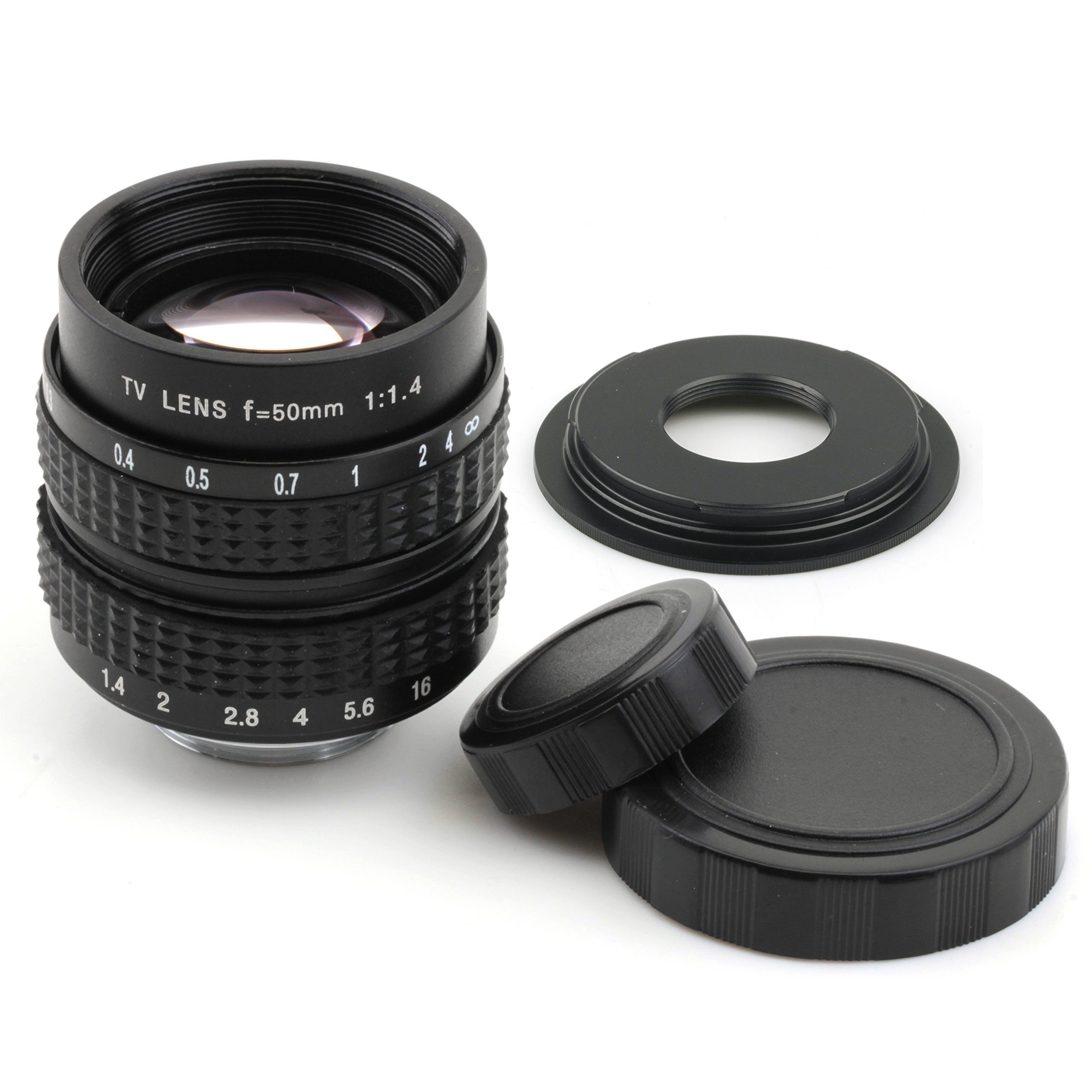 Pixco 50mm F1.4 CCTV Lens for C Mount Camera + 16mm C Mount Lens to Fujifilm Adapter to Fujifilm X Camera Lens Adapter by Pixco