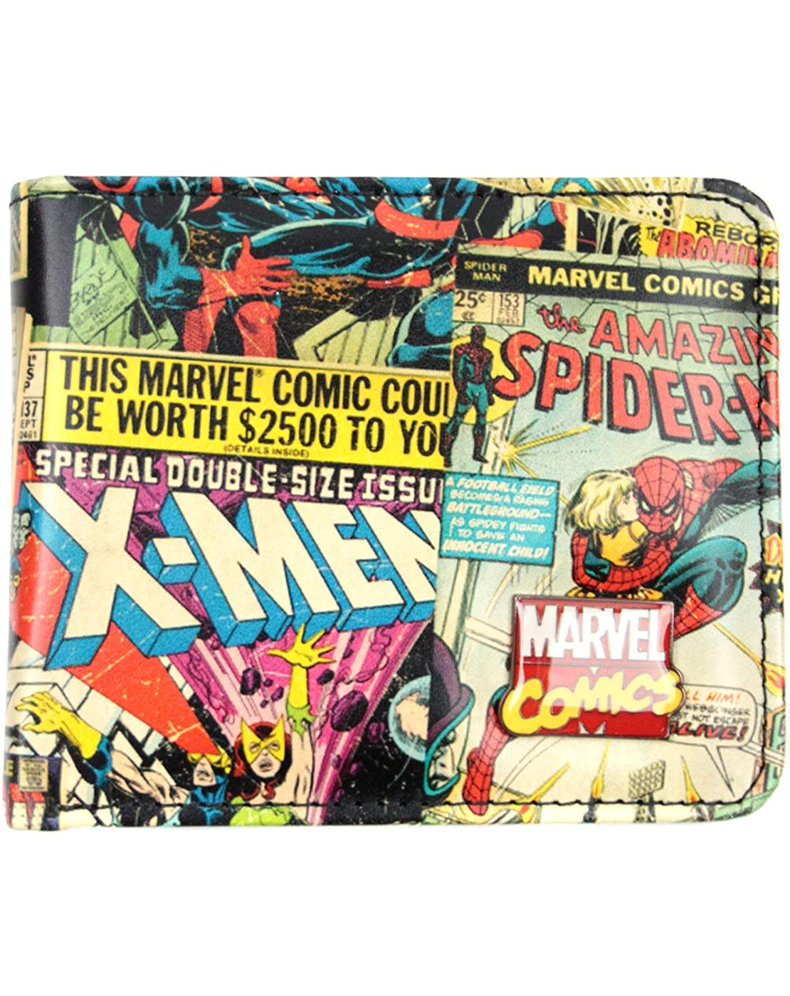 Amazon.com: Oficial Marvel Superhero Comics cartera: Clothing