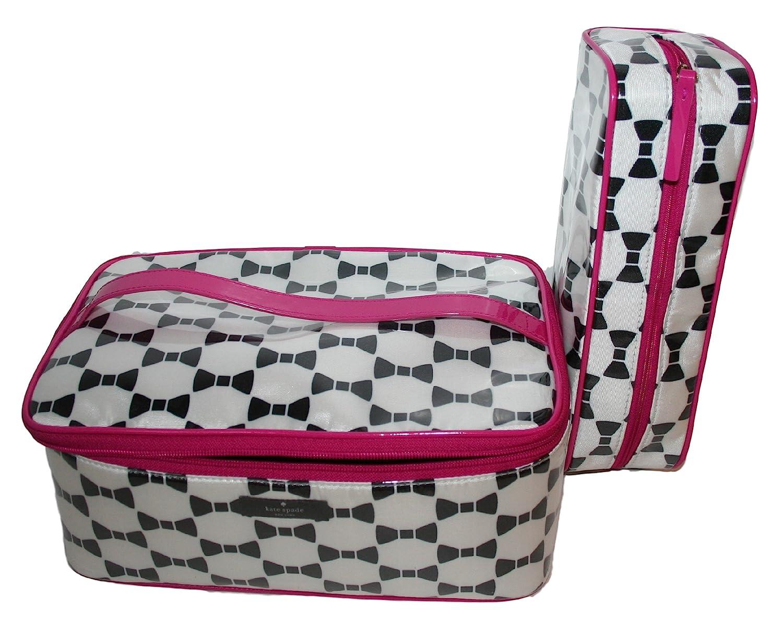4bbaa2ea8ded Kate Spade New York Whitehall Court Large Colin Make-Up Cosmetics Travel  Bag (Cream/Black)
