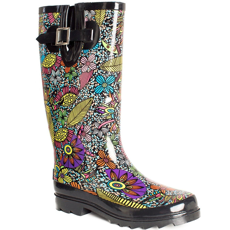 Lara's Women Wellies Garden Tall Rain Boots US 7