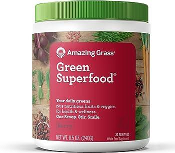 Amazing Grass Organic Wheat Berry Flavor Powder