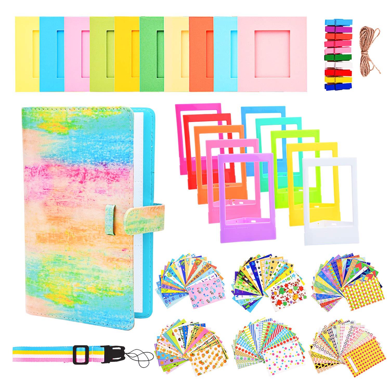 Sunmns Lot d'accessoires Bundle Kit pour Fujifilm Instax Mini 989070Films, Accessoire Incluent Album, Film Stickers, Desk Cadres, Cadre à Suspendre, Sangle, Rainbow Cadre à Suspendre SunmnDirect