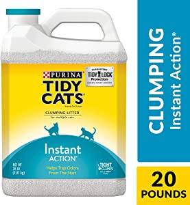 Purina Tidy Cats Clumping Cat Litter, Instant Action Multi Cat Litter - (2) 20 lb. Jugs