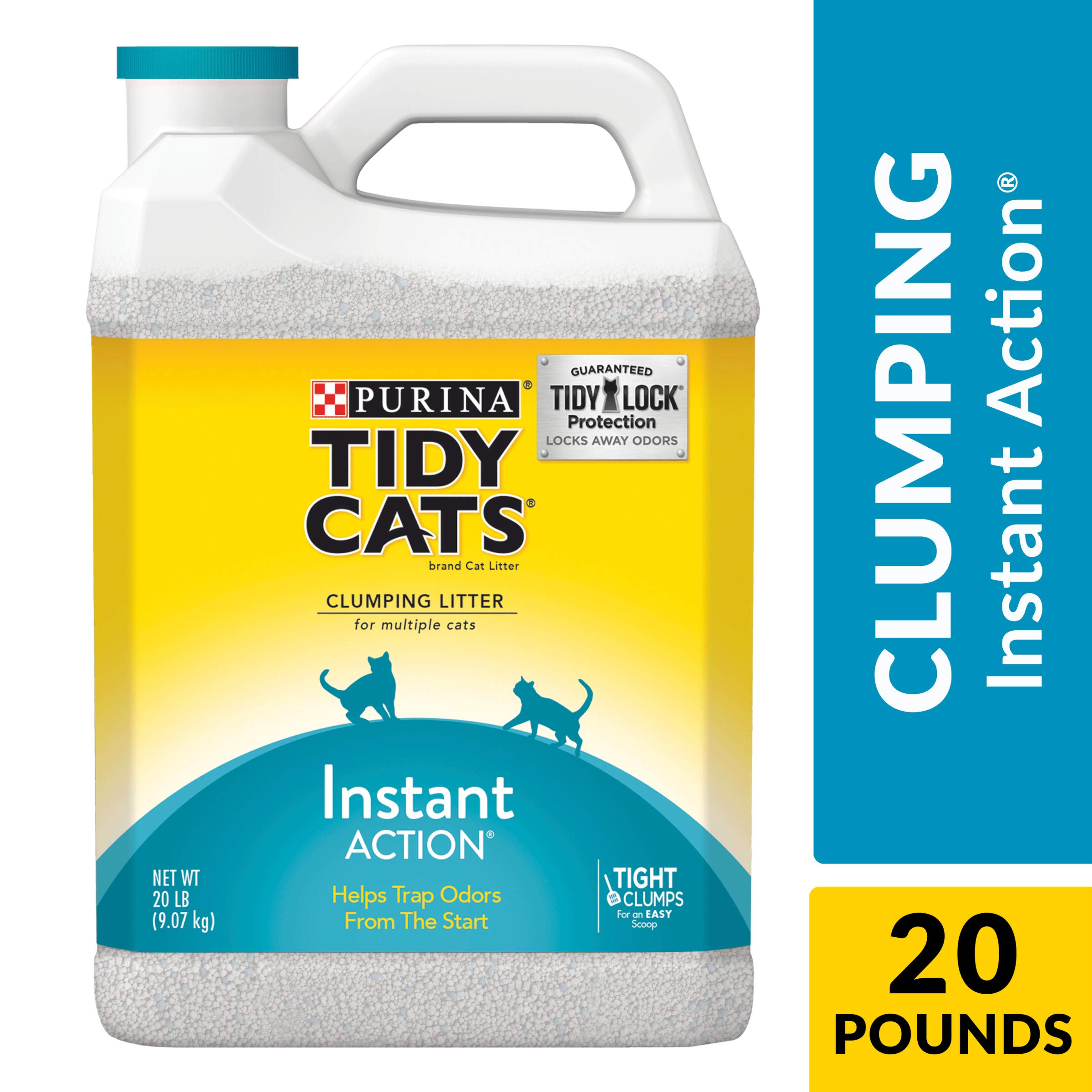 Purina Tidy Cats Clumping Cat Litter; Instant Action Multi Cat Litter - (2) 20 lb. Jugs
