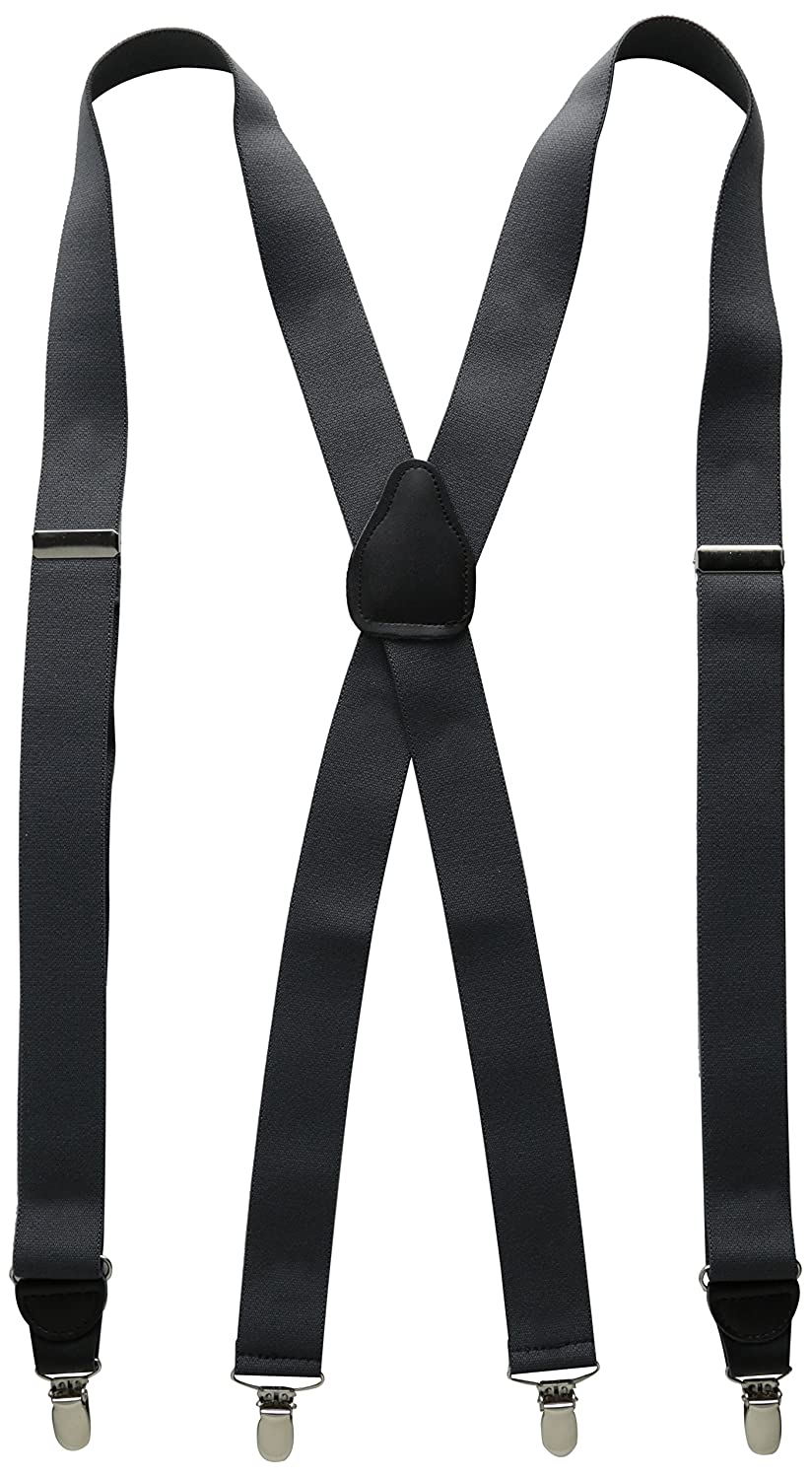 Stacy Adams Mens Big-Tall Extra Long Clip On Suspenders Black 54 Stacy Adams Men/'s Accessories 847X