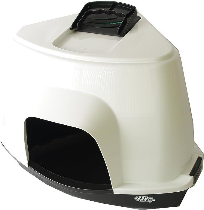 Pet Brands – Caja de arena para gatos esquinera con tapa y filtro, color negro: Amazon.es: Productos para mascotas