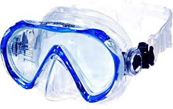 AQUAZON Beach Junior Medium Schnorchelbrille, Taucherbrille, Schwimmbrille, Tauchmaske für Kinder, Jugendliche von 7-14 Jahre