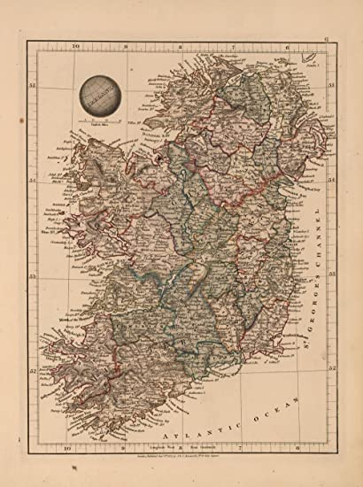 Print Map Of Ireland.Amazon Com Home Comforts Laminated Poster Map Ireland 1825 24 X 36