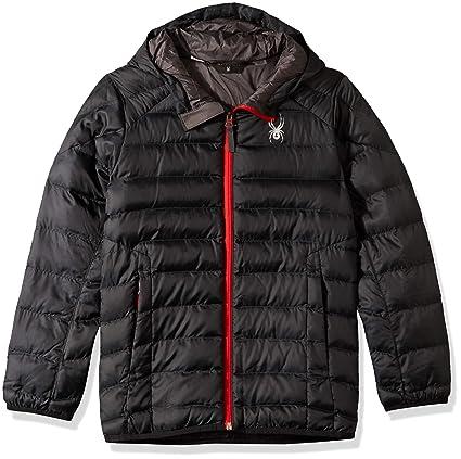 5c7c20d3a98 Amazon.com  Spyder Boys  Geared Hoody Synthetic Down Jacket  Sports ...