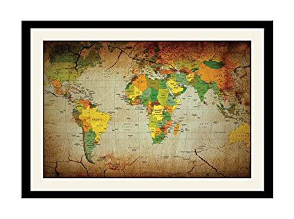 Artstory wooden artistic cracked world map framed wall painting 26 artstory wooden artistic cracked world map framed wall painting 26 cm x 16 cm x gumiabroncs Gallery