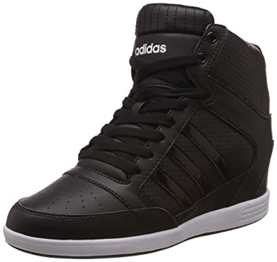 adidas neo Women's Super Wedge W Cblack, Cblack and Ftwwht Sneakers - 5 UK/
